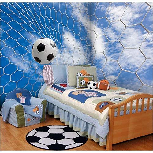 Dalxsh fotobehang 3D voetbalserie behang Stadion KTV thema hotel woonkamer decoratie wit voetbaldeur behang wandschilderij 250 x 175 cm.