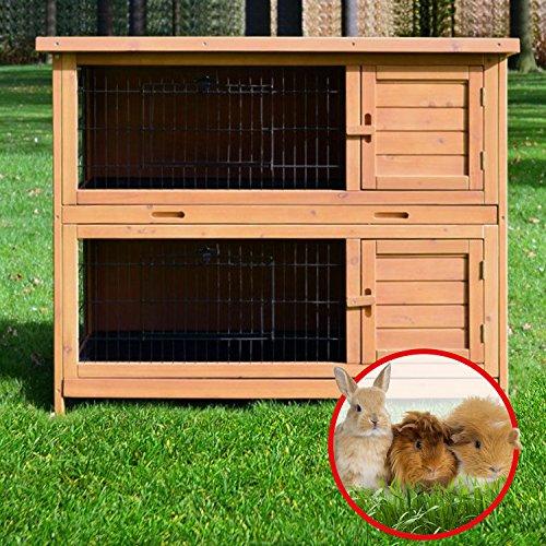 Zooprimus Kaninchenstall 05 Hasenkäfig – HOPPEL – Stall für Außenbereich (für Kleintiere: Hasen, Kaninchen, Meerschweinchen usw.) - 3