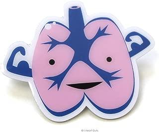 Lungs Lapel Pin I Lung You I Heart Guts