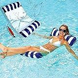 Agua Colchonetas Hinchables,Hamaca Flotante,4 en 1 Hamaca Piscina,Hamaca de Agua,Hamaca Hinchable Piscina,Cama Flotante de Agua,para Adultos y Niños Playa de Jardín