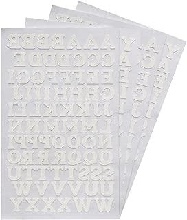 Magfok Iron-on Letters White 3/4-Inch Transfer, 4 Sheet (Black or White Optional)