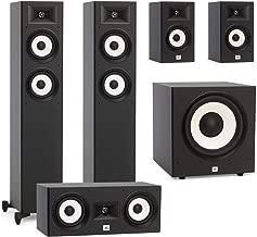 JBL 5.1 System with 2 JBL Stage A170 Floorstanding Speakers, 1 JBL Stage A125C Center Speaker, 2 JBL Stage A130 Bookshelf Speakers, 1 JBL Stage A100P Subwoofer