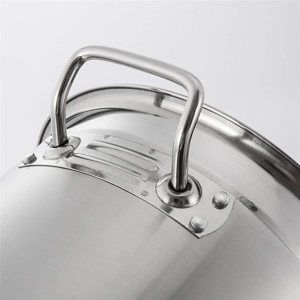 eingedickter Mehrzweck-Suppeneimer Xiaoais shop Haushalts-Kochtopf aus rostfreiem Stahl K/üchenutensilien,12L