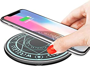 Magic Array Wireless Charger 10w Ultra-Thin Qi Fast Wireless Charging Pad Light Up Circle for iPhone 11 Series, X Series, 8 Series/Samsung Galaxy Note10 Series More All Qi-Enabled Phones-No AC Adapte