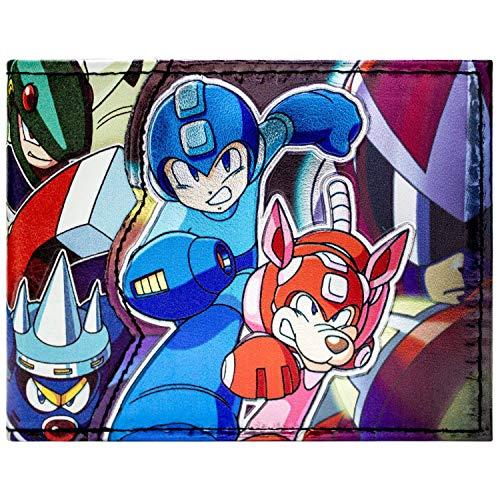 Cartera de Capcom Megaman Caracteres Brillantes Azul