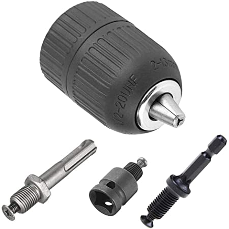 1//2-20UNF Keyless Drill Chuck With SDS Plus Shank Adaptor Heavy Duty Full For