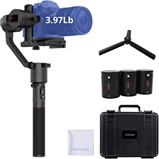 MOZA AirCross Stabilizer 3-Axis Handheld Gimbal Ultra-lightweight Mirrorless Camera Stabilizer 8 Follow Modes Unlimited Po...