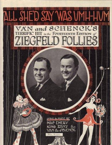 All She'd Say Was Umh-Hum 1920 (Ziegfeld Follies)