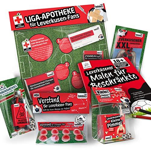 Leverkusen Fahne ist jetzt das MAXIMAL SPAß Paket für Bayer-Fans by Ligakakao.de | große Hissfahne mit Vereins Logo, schwarz-rot