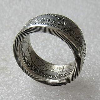 jooact Morgan Dollar Coin Ring Vintage Ring Handmade Ring Random Date Tails Version
