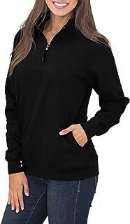 Womens Quarter Zip Sweatshirts Long Sleeve Pullover Sweatshirts with Pockets