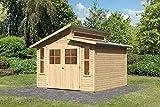 Unbekannt Karibu Gartenhaus GRAUBURG 7 Natur Gerätehaus 302x306cm 19mm