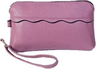 Fansport Women Clutch Wallet Fashion Faux Leather Zip Wristlet Wallet Lovely Rabbit Contrast Color Cash Wallet for Girls