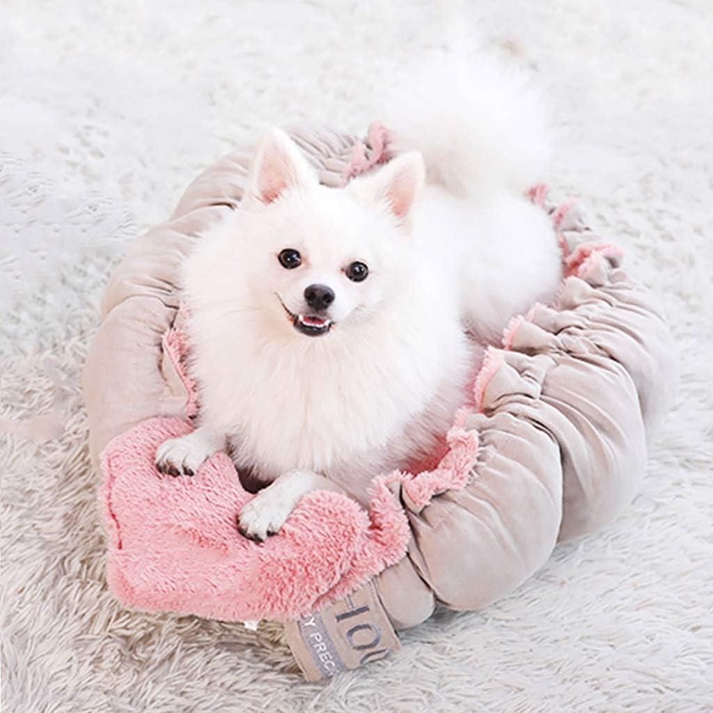 JIAJU Cama de algodón para Mascotas Perros Gatos Cama ortopédica para Perros Llanta Acolchada Cojín Parte Inferior Antideslizante Ranurado Ortopédico Espuma Cama para Mascotas Extra Cómodo Interior