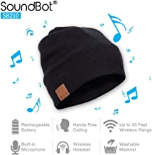 SoundBot¨ SB210 HD Stereo Bluetooth 4.1 Wireless Smart Beanie Headset Musical Knit Headphone Speaker Hat Speakerphone Cap,Built-in Mic