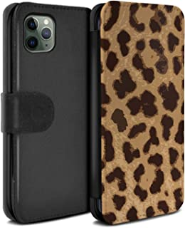 eSwish PU Leather Wallet Flip Case/Cover for Apple iPhone 11 Pro/Leopard/Cheetah Design/Fashion Animal Print Pattern Collection