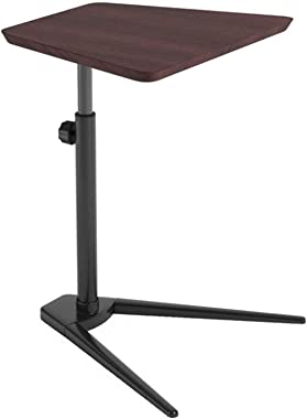Thermoses Laptop Desk, Laptop Desk, Multifunctional Coffee Table, Sofa Side Table, Easy to Assemble (Color: Brown, Size: 40x5