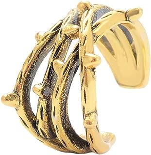 Shimigy U-Shaped Branches Dangle Ear Cuff Chain Earrings Clip-on Fashion Jewelry for Women