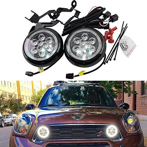 Mini Led Rally DRL Light - NSLUMO 18W High Power DC12V Canbus LED DRL Daytime Running Light Halo Fog Lamp Kit For Mini R55 R56 R58 R60 Rally Drving Lamp