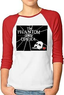 Women's The Phantom Of The Opera 3/4 Sleeves Baseball T-Shirts
