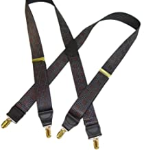 """product image for Hold-Ups City Lights Pattern X-back 1 1/2"""" wide Suspenders No-slip Gold Clips"""