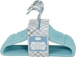 Home Expressions Children's Ultra Thin Premium 25 Pack Velvet Hangers (Milky Blue)