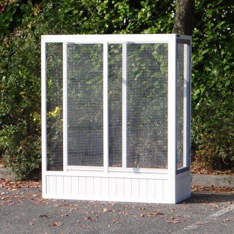 Anbau-Auslauf Voliere Hannah White-Grey 115x52,5x135,5cm