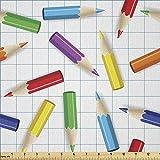 Lunarable Kinder-Stoff von The Yard, bunte Bleistifte auf