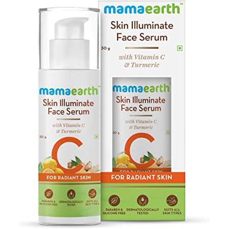 Mamaearth Skin Illuminate Vitamin C Face Serum For Glowing and Radiant Skin with High Potency Vitamin C & Turmeric; For Men and Women 30 g