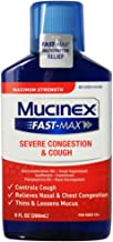 Mucinex Fast-Max Adult Severe Congestion and Cough Liquid, 9 oz (Pack of 2)