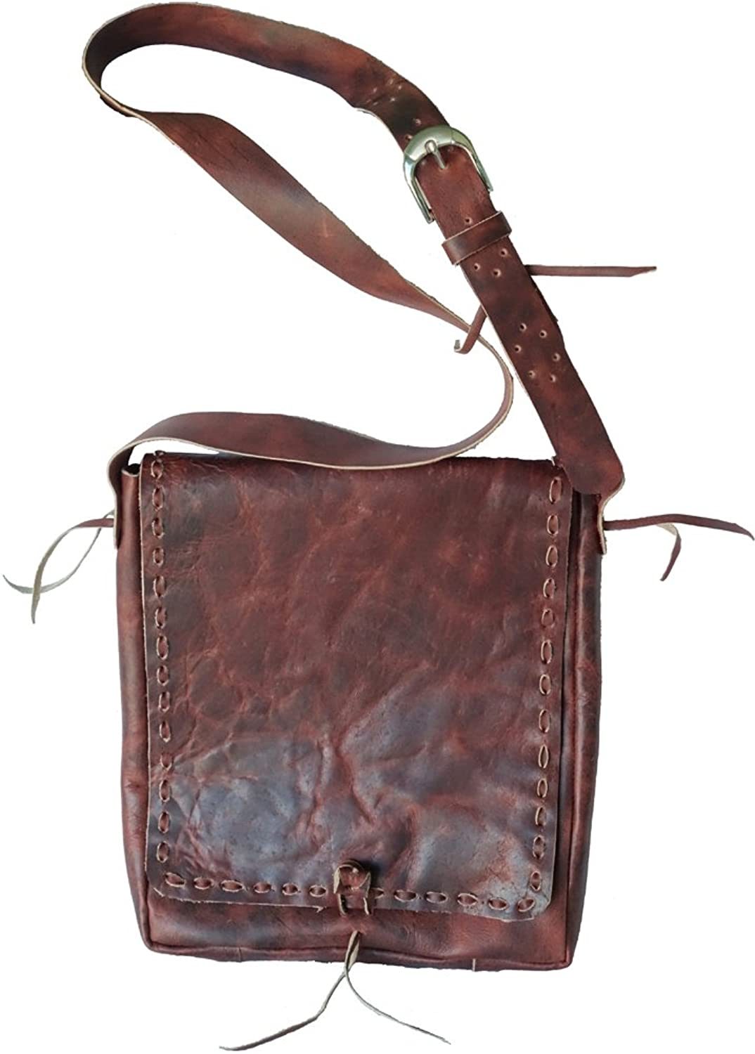 Atitlan Leather Handcrafted Leather Satchel Bag Brown