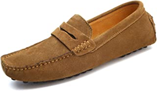 Soft Moccasins Men Loafers Genuine Leather Shoes Men Flats Driving Shoes