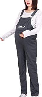 KEEPWO Women's Maternity Casual Dungarees Pregnant Long Overalls Trousers Jumpsuits