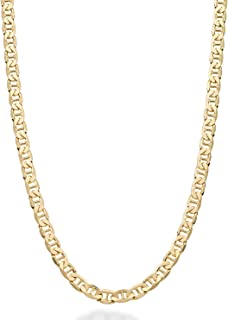 Solid 18K Gold Over Sterling Silver Italian 3mm, 4mm, 6mm...