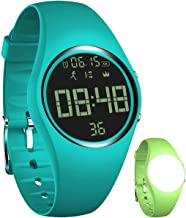 Simple Fitness Tracker [Swim Waterproof & No APP Need] Step Counter Walking 3D Walking Pedometer Watch with Vibration Alarm Clock/Calorie Burned/Distance/Alarm/Stopwatch for Kids Women Men