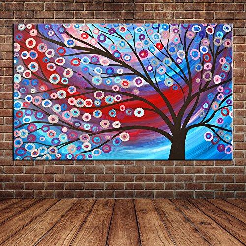 IPLST@ Moderna di paesaggio su tela parete, I soldi albero pittura ad olio , Decorazione grande parete murale -24x36inch(Nessuna cornice, senza barella)