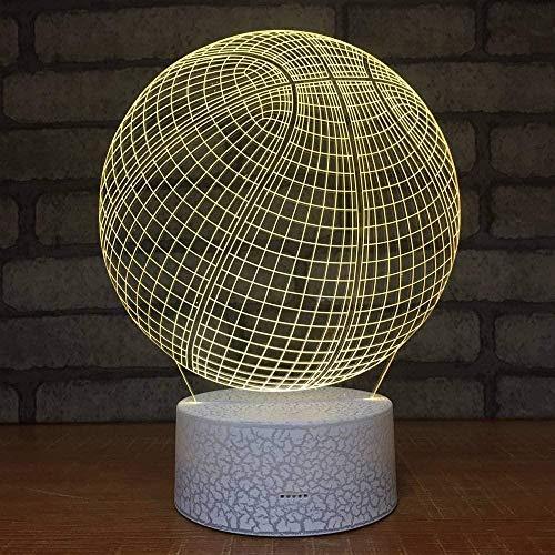 Night Light Baloncesto Night Light Stereo Vision Escritorio para niños Lámpara decorativa para niños Producto creativo Venta al por mayor Accesorios de iluminación 3D