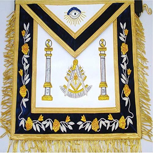 Phoenix Intl Handbestickte Freimaurer Lodge Master Freimaurer Schürze Blaue Farbe