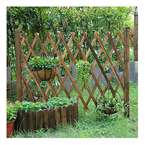 WXQIANG Gartenzaun aus Holz Plug-in Flexible Picket Fencing Außenwand Leitschiene, 3 Größen (Color : Brown, Size : 200X125CM)
