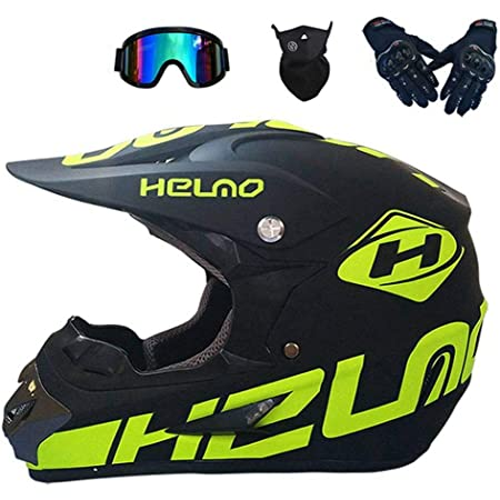 Xiaol Fahrradhelm Downhill Integralhelm In Schwarzgrün Helm Enduro Mtb Helm Motorrad Crosshelm Motocross Helm Herren Damen Sicherheit Schutz S 52 53cm Auto