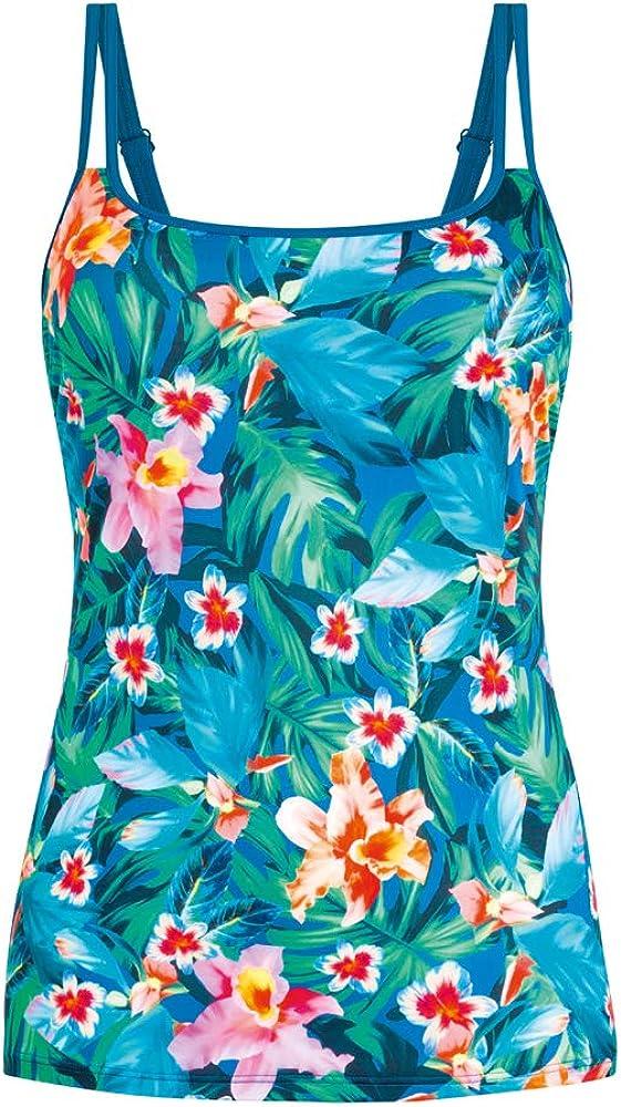 Amoena Women's Standard Mauritius Pocketed Mastectomy Tankini Top