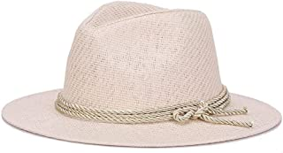 SHENTIANWEI Straw hat Summer Sunshade Cool hat European and American Tide hat (Color : White, Size : 56-58cm)