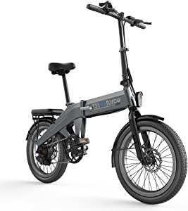 GForce Folding Ebike for Adults 20″ Fat Tire Bike