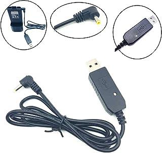 Nihlssen Cable Cargador USB con luz indicadora para Walkie Talkie para BaoFeng UV-5R Batería de extensión BF-UVB3 Plus Bat...