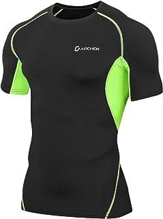 Darchen(ダーチェン) 加圧tシャツ 半袖 メンズ スポーツウェア [軽量 吸汗速乾 メッシュ通気] コンプレッショントップス インナー アンダーウェア 筋トレ ダイエット 3色選択可能