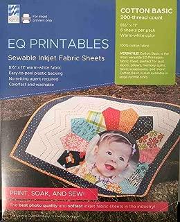EQ Printables Inkjet Fabric Sheets,1 Pack