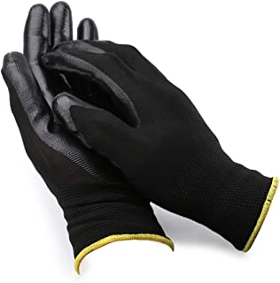 dynofit Personal Hand Protection Safety Work Gloves, 2 Pairs Nitrile Cut/Chemical Resistant Gloves,Thick Working Gloves Nylon