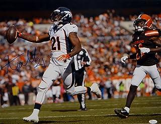 Aqib Talib Autographed Broncos 16x20 Running Against Browns Photo- JSA W Auth