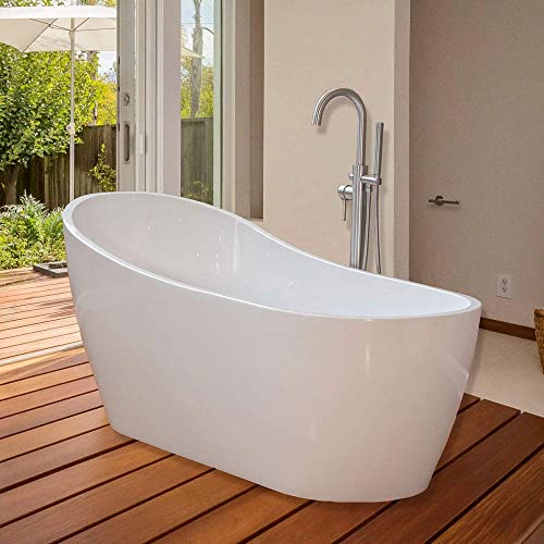 Merveilleux WOODBRIDGE 67u0027u0027 Modern Bathroom Glossy Acrylic Slipper Freestanding Bathtub  B 0001 White,