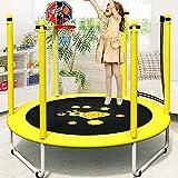Kinder-Trampolin-ÜBung - 3 In 1, Korb, Handlauf, Reck, 3 MöGlichkeiten, Finden Sie Den Besten Weg FüR Kinder Zu Springen,Basket